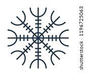 magic runic symbol. sacred... | Shutterstock .eps vector #1196725063
