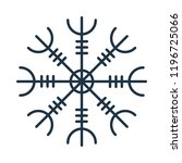 magic runic symbol. sacred... | Shutterstock .eps vector #1196725066