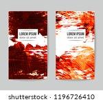 set of vector business card... | Shutterstock .eps vector #1196726410
