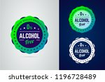 alcohol free round vector badge.... | Shutterstock .eps vector #1196728489