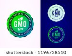 gmo free badge for natural... | Shutterstock .eps vector #1196728510