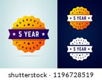 5 years warranty stickers.... | Shutterstock .eps vector #1196728519