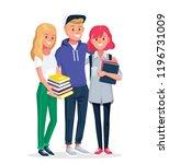 college friends  university... | Shutterstock .eps vector #1196731009