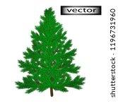 vector illustration of fir tree ... | Shutterstock .eps vector #1196731960