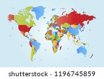 color world map vector | Shutterstock .eps vector #1196745859