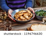 chicken nuggets. chicken fried... | Shutterstock . vector #1196746630