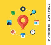 local seo. location based seo....   Shutterstock .eps vector #1196754823
