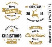 christmas vector logo for... | Shutterstock .eps vector #1196756476