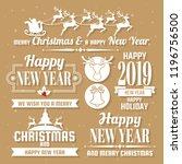 christmas vector logo for... | Shutterstock .eps vector #1196756500