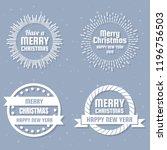 christmas vector logo for... | Shutterstock .eps vector #1196756503