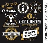 christmas vector logo for... | Shutterstock .eps vector #1196756533