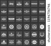 vintage retro vector logo for... | Shutterstock .eps vector #1196756746