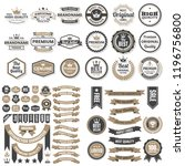 vintage retro vector logo for... | Shutterstock .eps vector #1196756800