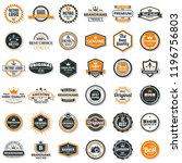 vintage retro vector logo for... | Shutterstock .eps vector #1196756803