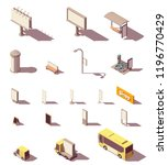 vector isometric outdoor... | Shutterstock .eps vector #1196770429