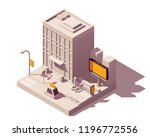 vector isometric low poly... | Shutterstock .eps vector #1196772556