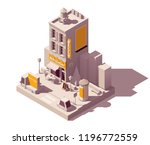 vector isometric low poly... | Shutterstock .eps vector #1196772559