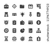 business finance glyph vector... | Shutterstock .eps vector #1196774923
