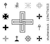 braided cross icon. detailed... | Shutterstock .eps vector #1196776513