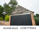 garage with rustic wooden... | Shutterstock . vector #1196779063