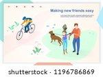 making new friends easy flat... | Shutterstock .eps vector #1196786869