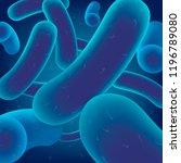 colony of bacteria  virus cells ... | Shutterstock .eps vector #1196789080