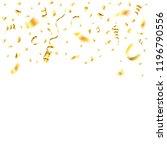 gold streamer and golden... | Shutterstock .eps vector #1196790556