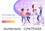 data analysis cartoon vector... | Shutterstock .eps vector #1196791033