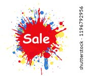 sale text in the center on... | Shutterstock .eps vector #1196792956