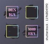 vector black paint  ink brush... | Shutterstock .eps vector #1196804590