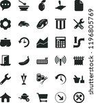 solid black flat icon set line... | Shutterstock .eps vector #1196805769