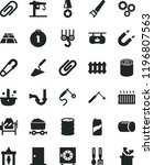 solid black flat icon set clip... | Shutterstock .eps vector #1196807563