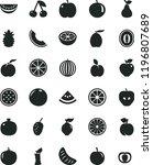 solid black flat icon set apple ... | Shutterstock .eps vector #1196807689