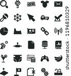 solid black flat icon set... | Shutterstock .eps vector #1196810329
