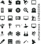 solid black flat icon set... | Shutterstock .eps vector #1196810356