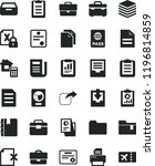 solid black flat icon set... | Shutterstock .eps vector #1196814859