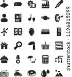 solid black flat icon set house ... | Shutterstock .eps vector #1196815099