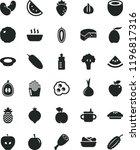 solid black flat icon set mug... | Shutterstock .eps vector #1196817316