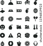 solid black flat icon set... | Shutterstock .eps vector #1196819923