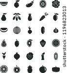 solid black flat icon set beet... | Shutterstock .eps vector #1196823013