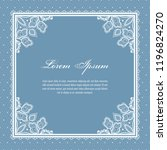 wedding card or invitation... | Shutterstock .eps vector #1196824270