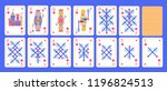 playing cards set of diamonds... | Shutterstock .eps vector #1196824513
