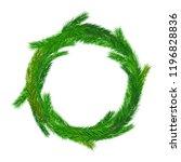 christmas empty wreath.... | Shutterstock .eps vector #1196828836