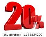 3d render illustration. red... | Shutterstock . vector #1196834200
