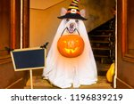 dog sitting as a ghost for... | Shutterstock . vector #1196839219