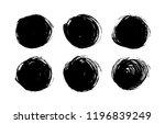 black ink spots set on white...   Shutterstock .eps vector #1196839249