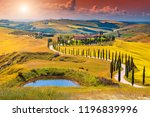 amazing colorful sunset in... | Shutterstock . vector #1196839996