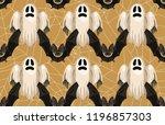 halloween seamless pattern.... | Shutterstock . vector #1196857303