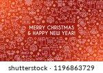 merry christmas banner. design... | Shutterstock .eps vector #1196863729