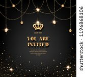 vip invitation template with... | Shutterstock .eps vector #1196868106